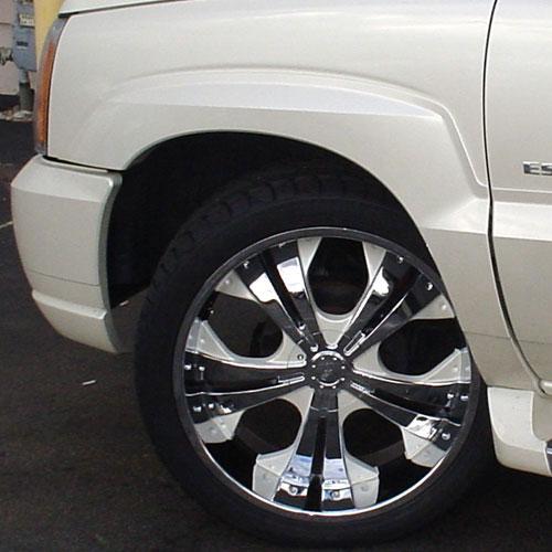 Custom Painted Wheels Installation